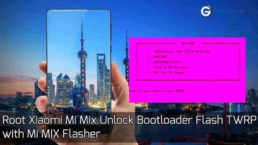 Root Xiaomi Mi Mix Unlock Bootloader
