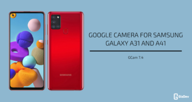 Google Camera 7.4 for Samsung Galaxy A31 and A41